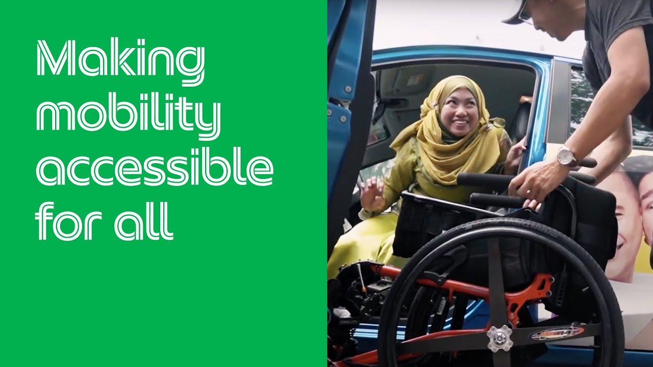 Driver Grab Wanita Penyandang Disabilitas