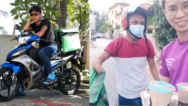 Syahrain Fadzil Disabilitas sebagai Ojol Pengantar Makanan