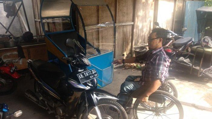 Triyono, penyandang disabilitas merintis bisnis ojek