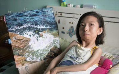 Zhang Junli, Difabel yang Sukses Berbisnis Lukisan