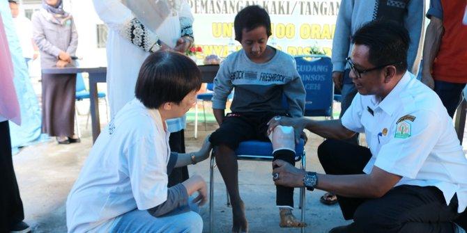 Hariswan dan Harapan Nyata Penerima Kaki Palsu di Aceh