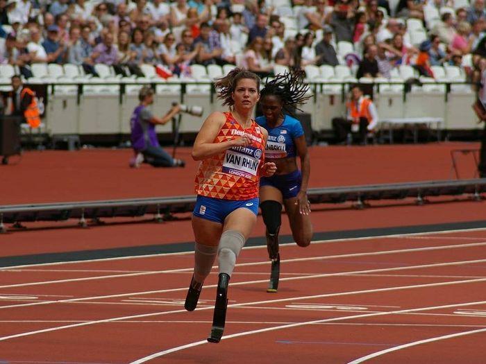 Marlou, Atlet Lari Tanpa Kaki Pemegang Rekor Dunia