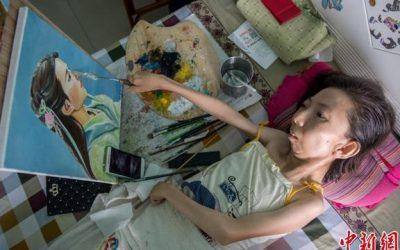 Zhang Junli Sukses Berbisnis Meski Dengan Keterbatasan