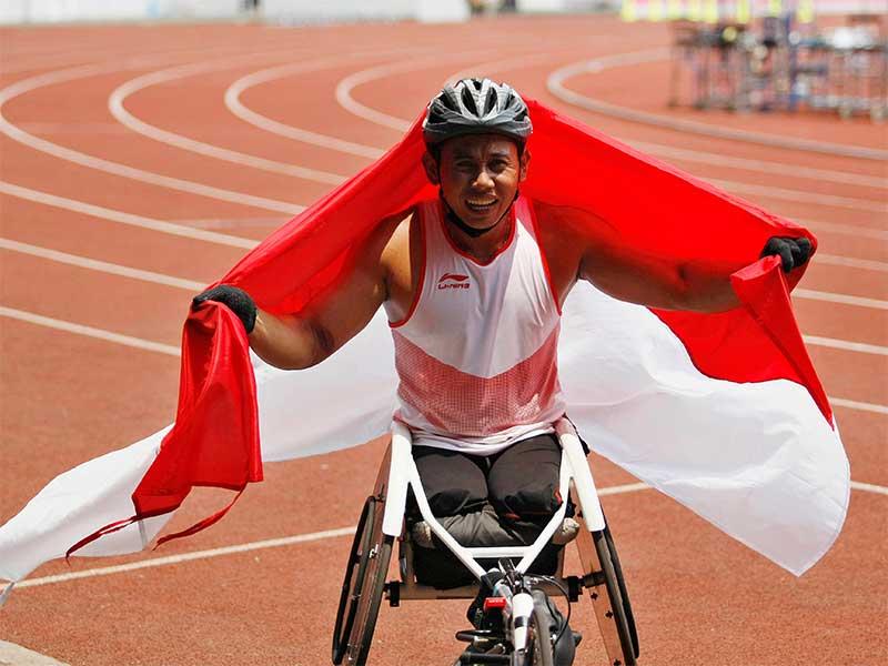 Jaenal Aripin Pembalap Kursi roda Asal Indonesia Tambah Mendali Perak Untuk Indonesia di Asian Para Games 2018