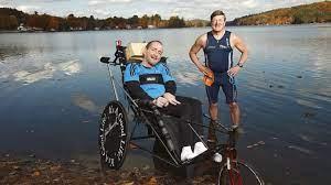 Team Hoyt Mengacu Pada Ayah Dick Hoyt Dan putranya Rick Hoyt Yang Menderita Palsi Serebral Termasuk Maraton Dan Ironman Triathlon