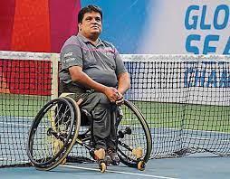 Harry Boniface Prabhu Pemain Tenis Kursi Roda Quadriplegic India
